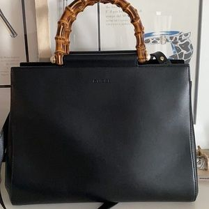 Gucci limited edition calfskin bamboo top handle